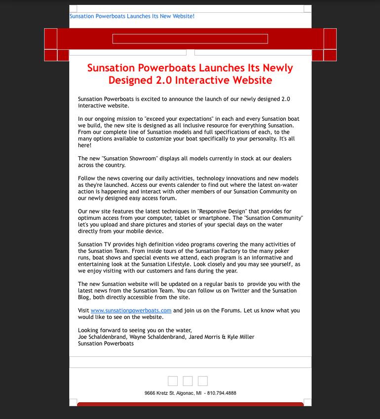 Sunsation New Website